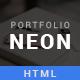 NEON - Personal Portfolio HTML5 Template