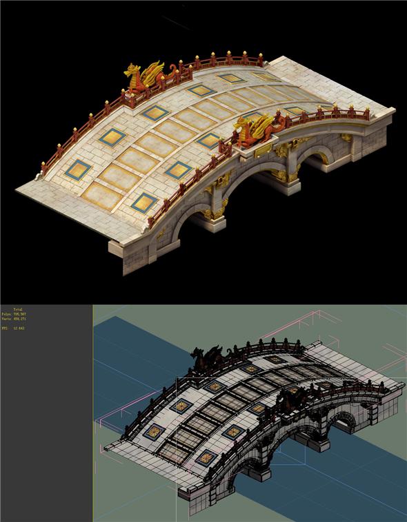 City Building - Stone Bridge 13 - 3DOcean Item for Sale