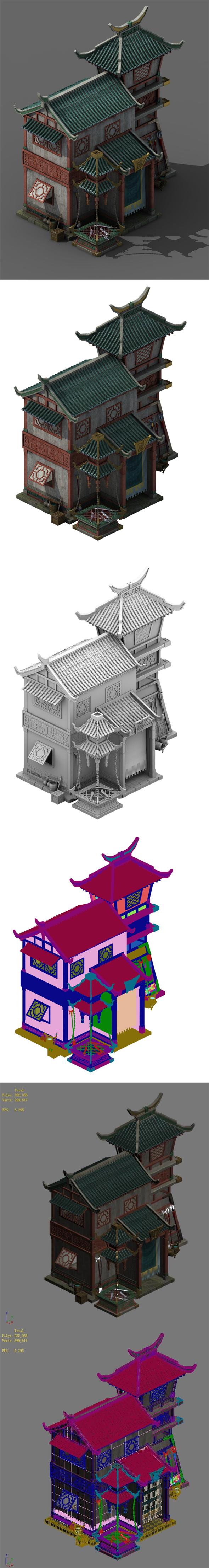 City Building - Weapon Forging Shop - 3DOcean Item for Sale