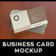 Business Card | Realistic | Leather Background