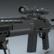 Modern Sniper Rifle Highly Detailed High Poly