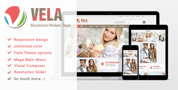 Vela - Multi-Purpose WooCommerce WordPress