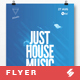 Just House Music vol.2 - Minimal Flyer / Poster Template A3