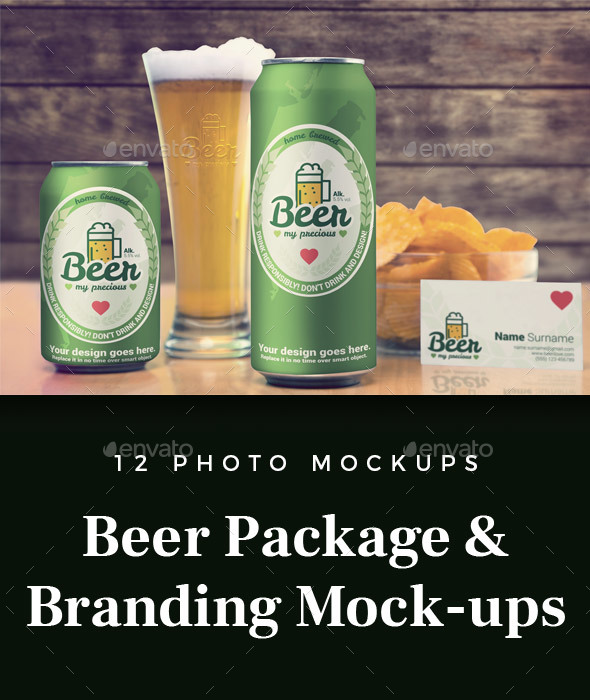 Beer Package & Branding Mock-up