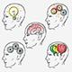 Human Brain Thinking Process Set