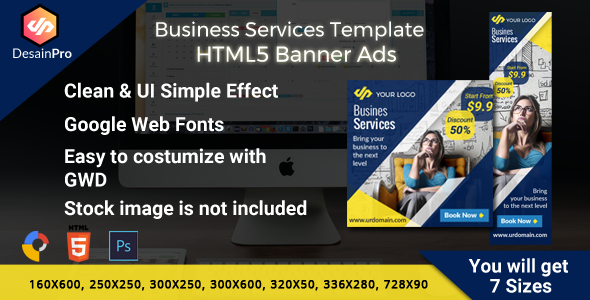 Download Business Services Ads Banner HMTL5 - 7 Sizes