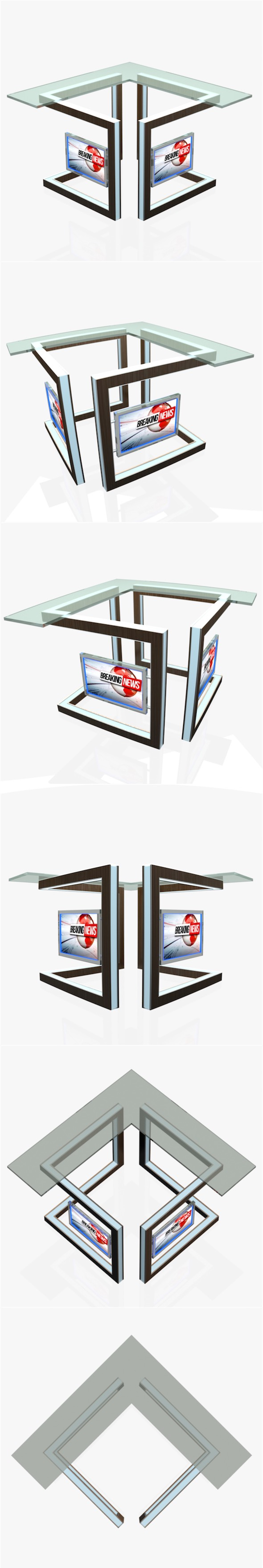 Virtual Tv Studio News Desk 3 - 3DOcean Item for Sale