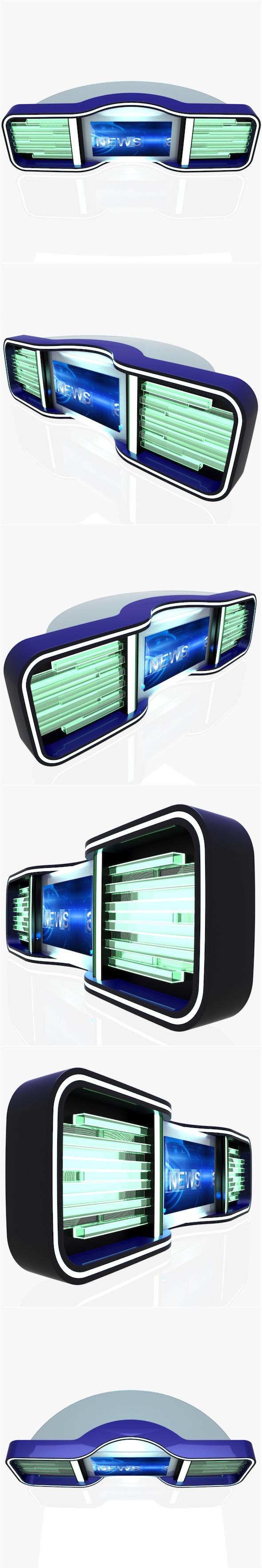 Virtual Tv Studio News Desk 5 - 3DOcean Item for Sale