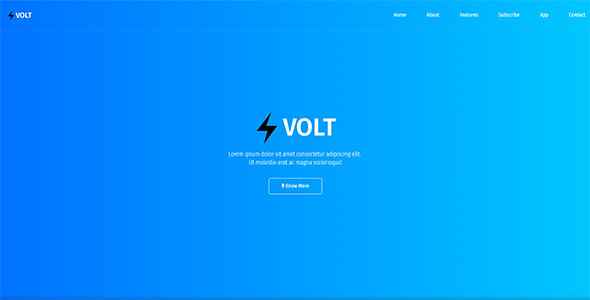 Download Volt - Responsive App & Software Template