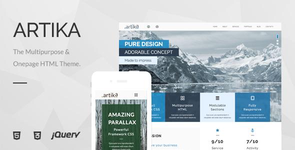 Artika - Multipurpose & Onepage HTML Template