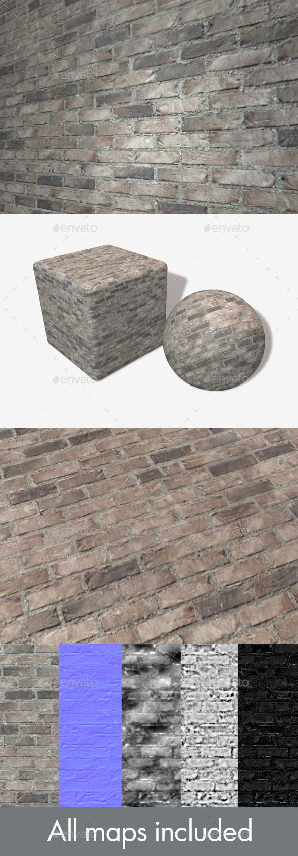 3DOcean Modern Grey Brick Seamless Texture 19762972