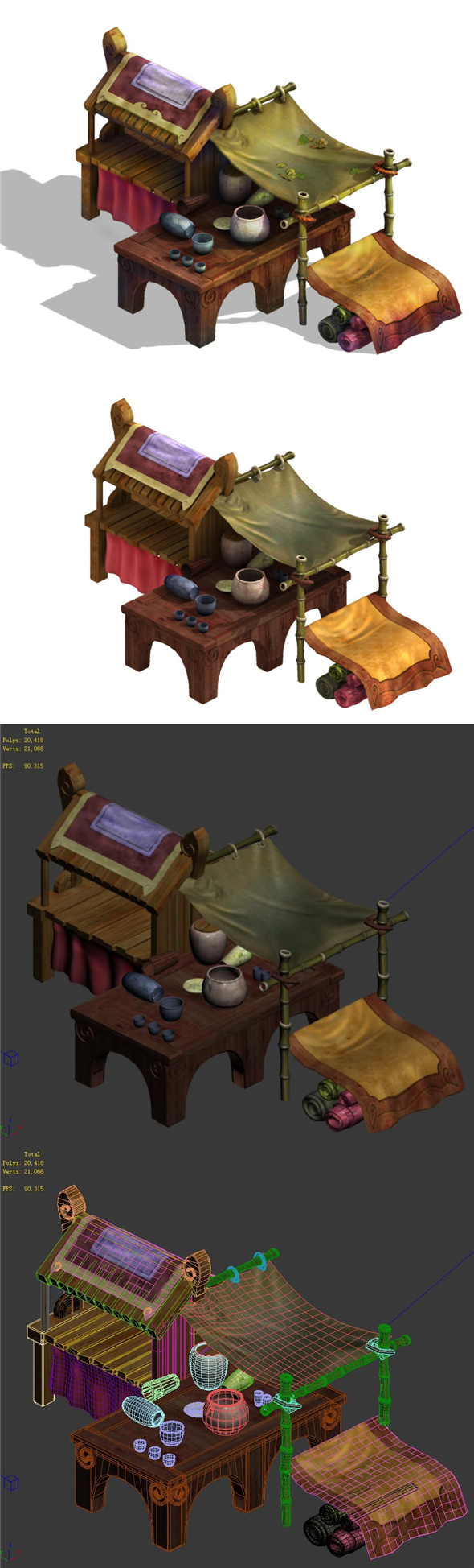 City - small shops - 3DOcean Item for Sale