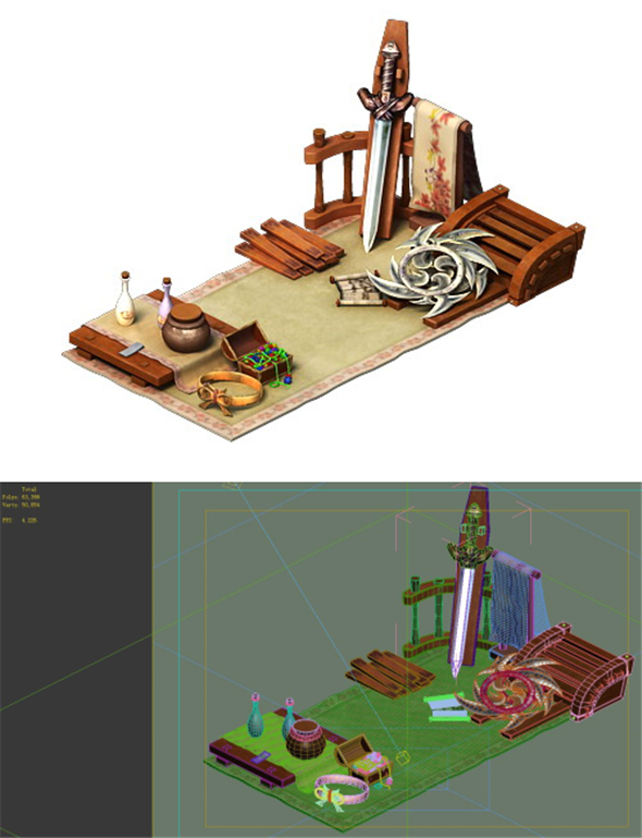Game Model - City - Small Booth - 3DOcean Item for Sale