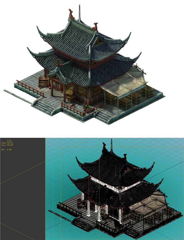 Game Model - City - Pharmacy - 3DOcean Item for Sale