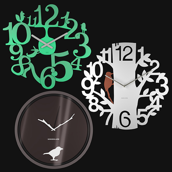 Wall Clocks - 3DOcean Item for Sale