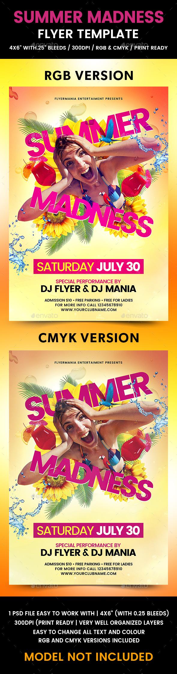 Summer Madness Flyer Template