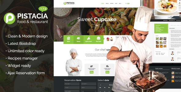 Pistacia - Food, Recipes, Restaurant Responsive WP Theme
