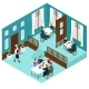 Isometric Restaurant Dining Room Concept