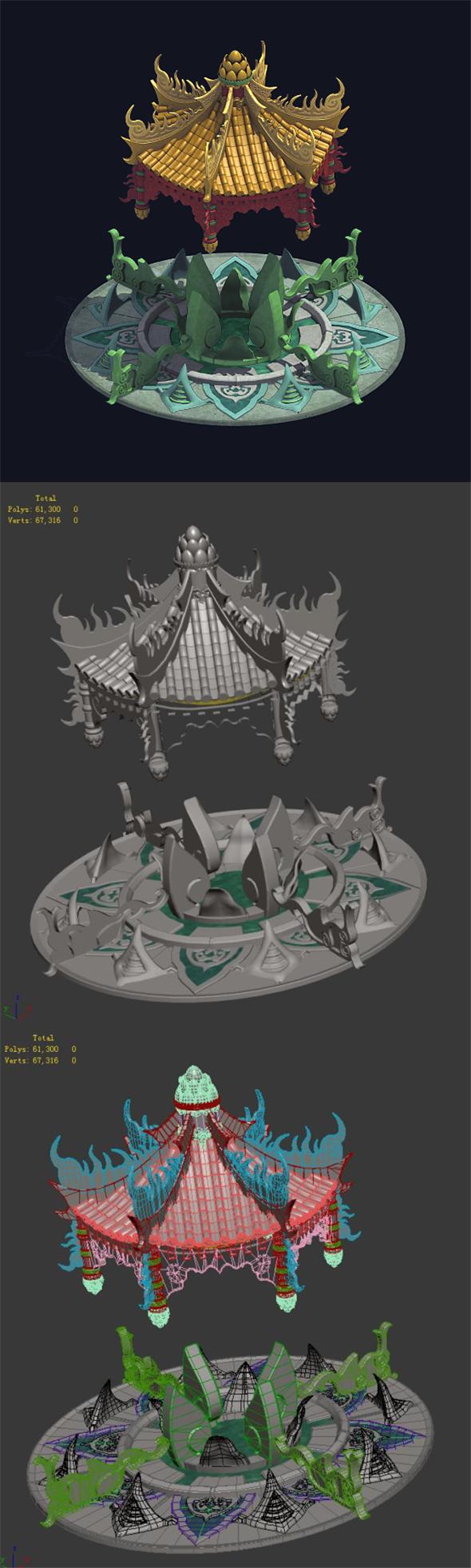 City Center Decoration - Fortune Spring 01 - 3DOcean Item for Sale
