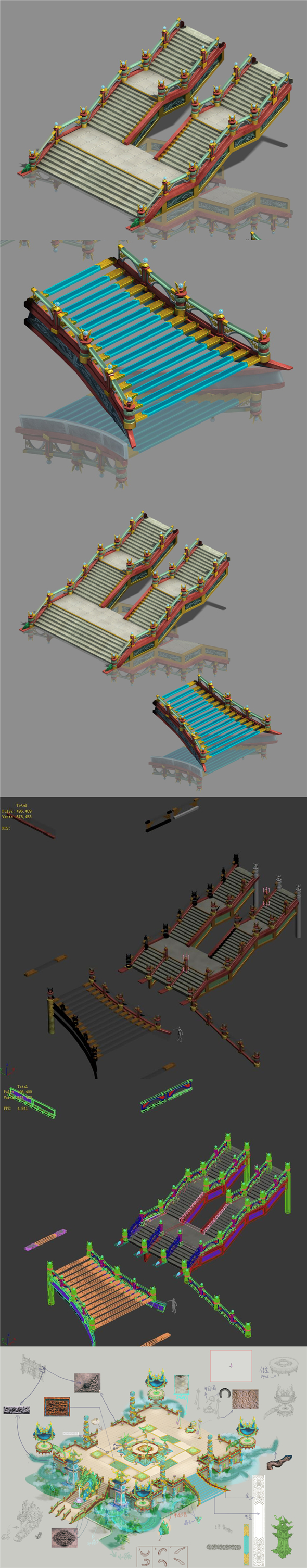 Large city square - stairs - 3DOcean Item for Sale