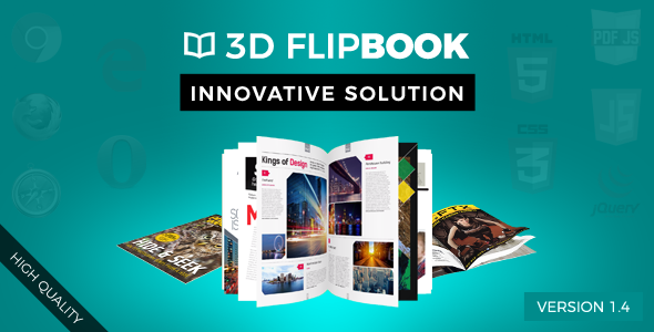 Interactive 3D FlipBook with Physics-Based Animation jQuery Plugin - CodeCanyon Item for Sale