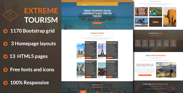 Image of Extreme Tourism – Tourism & Adventure HTML5 Template