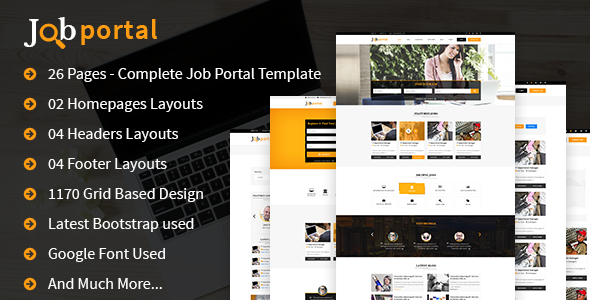 Job Portal HTML Template (Web site Templates)
