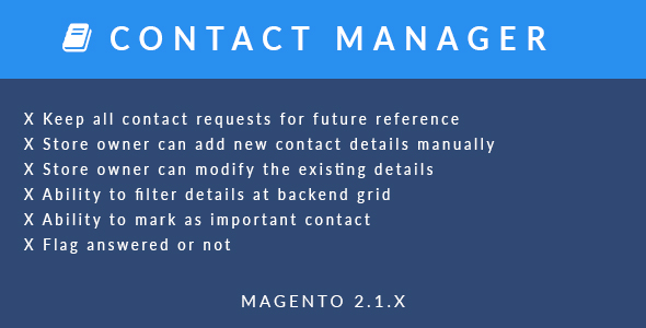 Download Magento 2 Contact Manager Extension