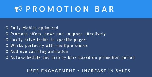 Download Magento 2 Promotion Bar Extension