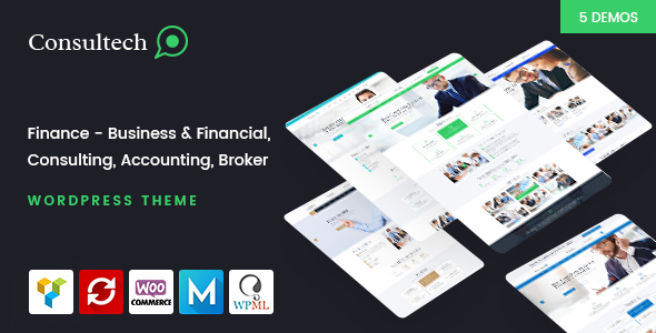 Download Consultech - Finance & Consulting Business WordPress Theme