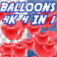 4K Balloons Hearts Pack V2 4 in 1