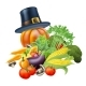 Thanksgiving Vegatables Illustration
