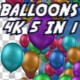 4K Colorful Balloons Pack 5 in 1