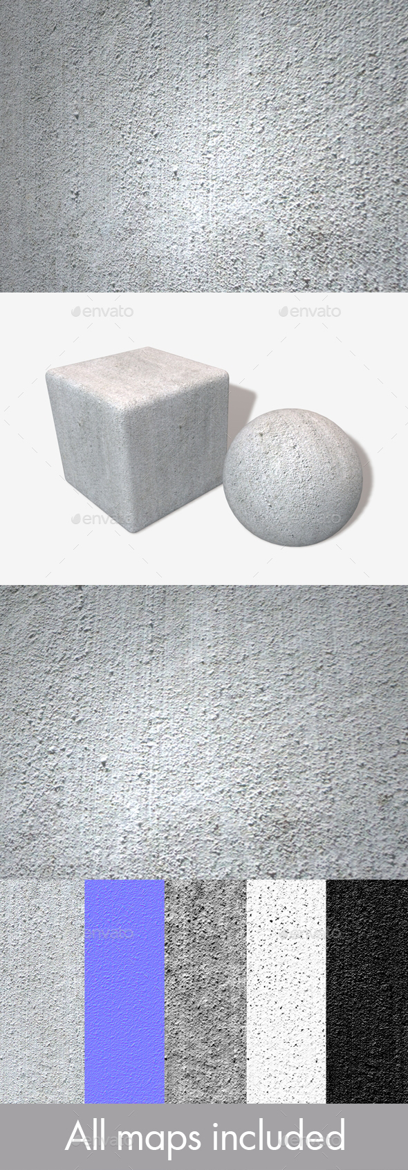 Rough Industrial White Wall Seamless Texture - 3DOcean Item for Sale