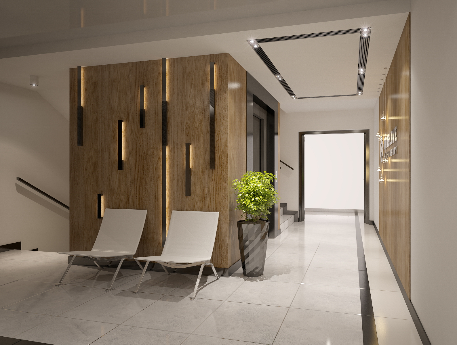 Interior Design Foyer Area Image : Apartments building entrance hall area foyer lobby with
