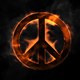 Pacifist Peace Sign On Fire