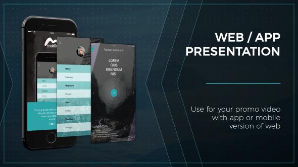 web / app presentation – phone (mobile) after effects templates, Presentation templates