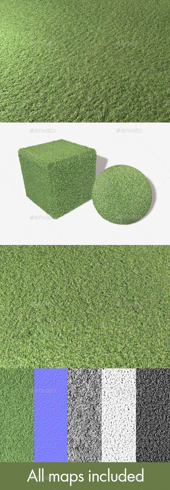 Artificial Plastic Turf Seamless Texture - 3DOcean Item for Sale