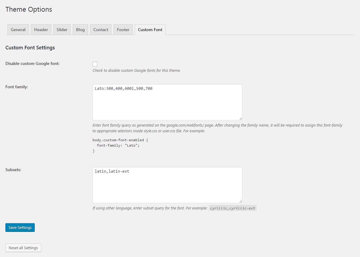 Google theme reset - Cruz Modern Business Wordpress