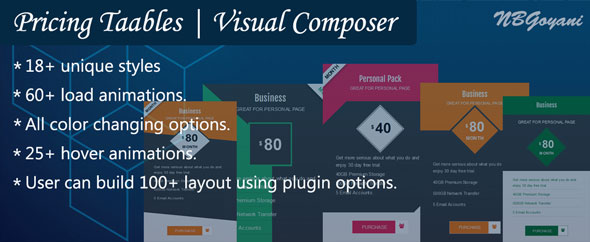 Visual Composer | Pricing Tables By NBGoyani (Add-ons) images