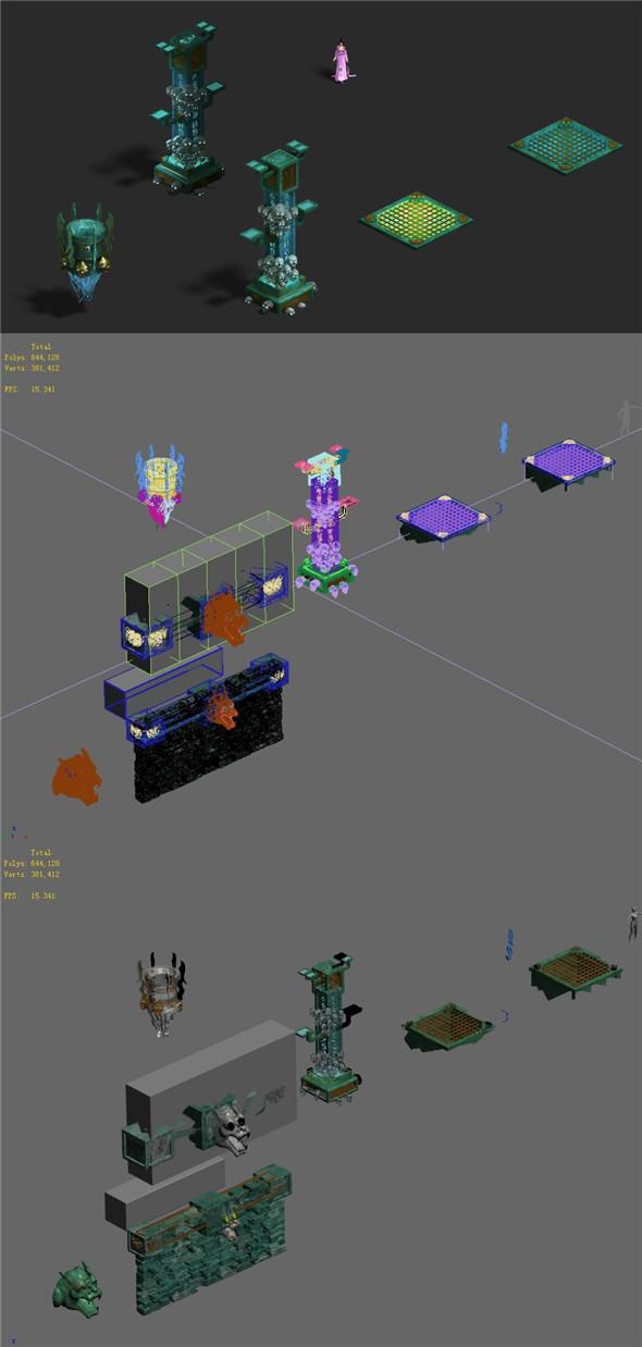 Underground city - debris - 3DOcean Item for Sale