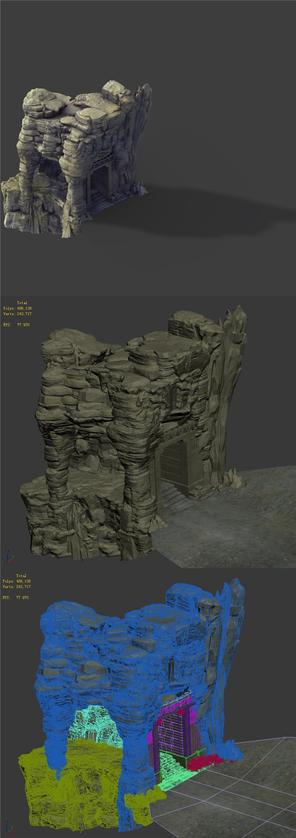 Terrain - Stone 09 - 3DOcean Item for Sale