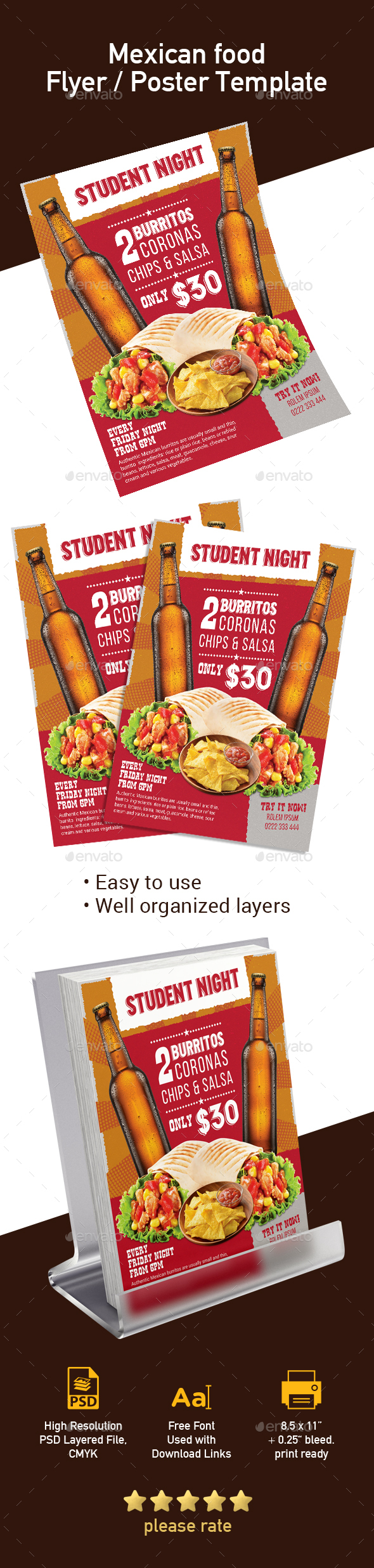 Mexican Food Club Flyer / Poster Template