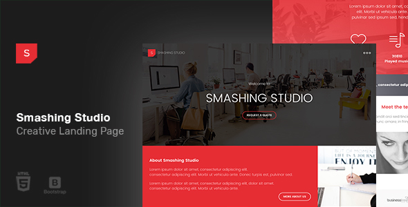 Smashing Studio Landing Page