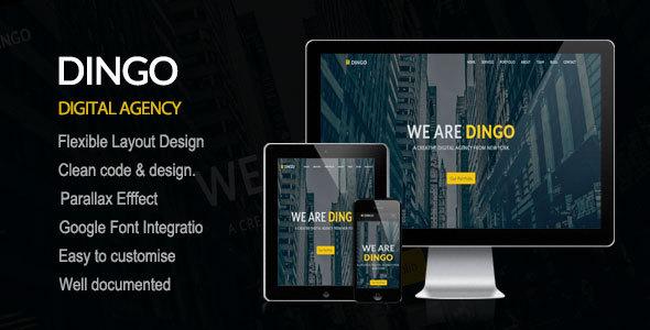 DINGO -  Responsive & elegant One Page Template