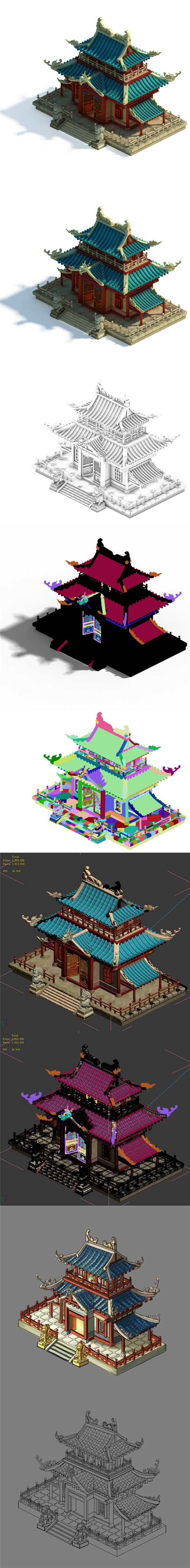 Volcano Hill - Palace Architecture 02 - 3DOcean Item for Sale