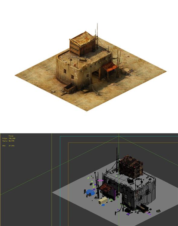 Gobi Desert - Cottage Main House 01 - 3DOcean Item for Sale