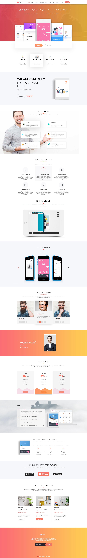 AppCode - Responsive Mobile App Website Template - 1