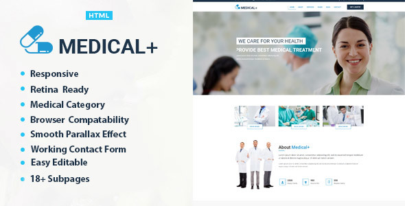 Medical Plus - Health And Medical HTML Template
