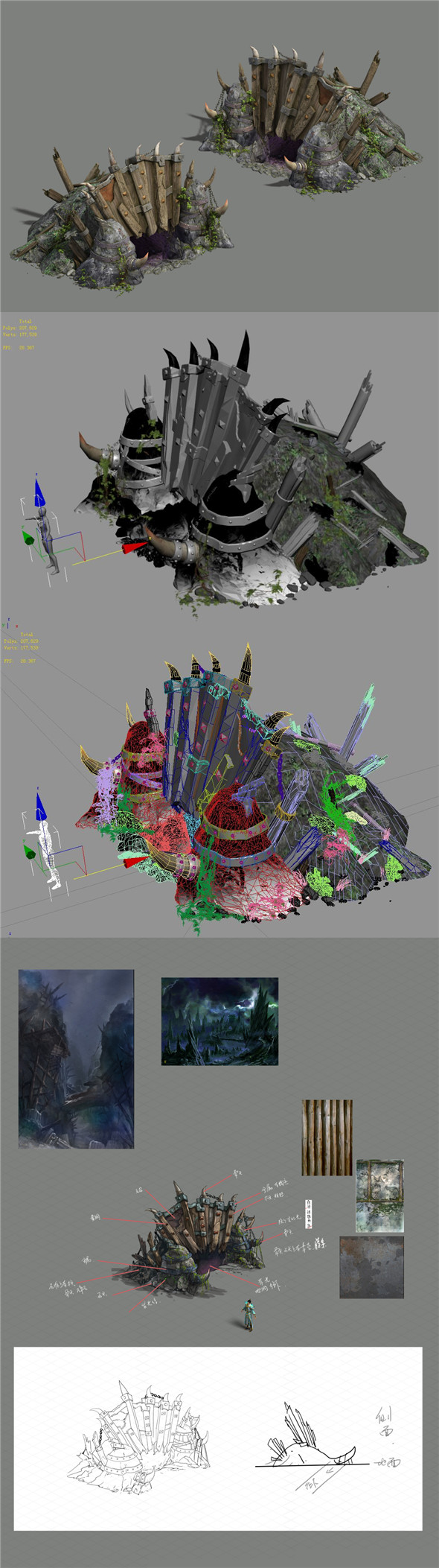 Monster base - hole - 3DOcean Item for Sale